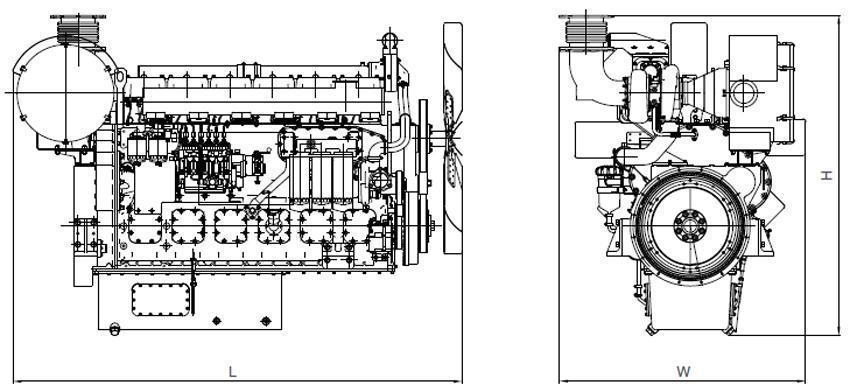W Series Diesel Engine for Genset